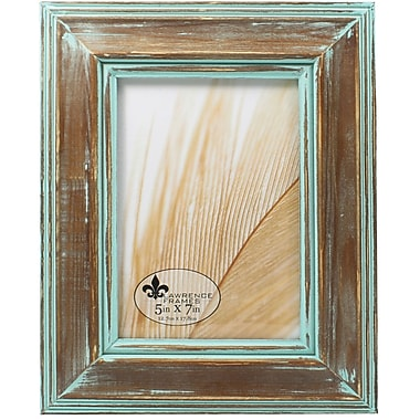 5x7 Weathered Wood With Verdigris Wash Picture Frame