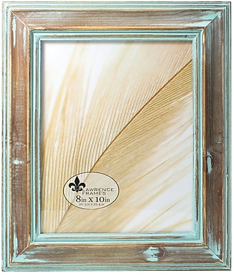 8x10 Weathered Wood With Verdigris Wash Picture Frame