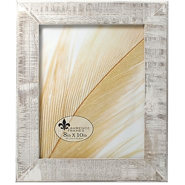 8x10 Distressed Gray Wood With White Wash Picture Frame