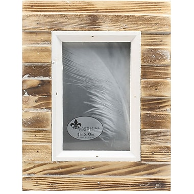 4x6 Natural Weathered Wood Picket Fence Picture Frame