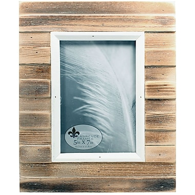 5x7 Natural Weathered Wood Picket Fence Picture Frame
