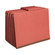 Staples® Colored Pressboard Classification Folders, 2/5 Cut Top Tab, 3 Partitions, 20/Box (98756SB)