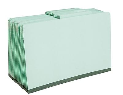 Staples® Colored Pressboard Classification Folders, 2/5 Cut Top Tab, 3 Partitions, 20/Box (98855SB)