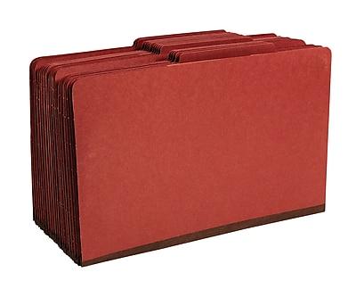 Staples® Colored Pressboard Classification Folders, 2/5 Cut Top Tab, 3 Partitions, 20/Box (98856SB)