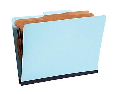 Staples® Colored Pressboard Classification Folders, 2/5 Cut Top Tab, 3 Partitions, 20/Box (98757SB)