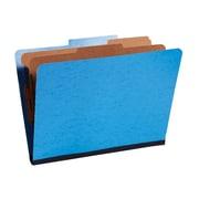 Staples® Moisture-Resistant Classification Folders, 2/5 Cut Top Tab, 2 Partitions, 10/Box (PU61MLBLSB)