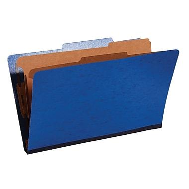 Staples® Moisture-Resistant Classification Folders, 2/5 Cut Top Tab, 2 Partitions, 10/Box (PU64M DBL-SB)