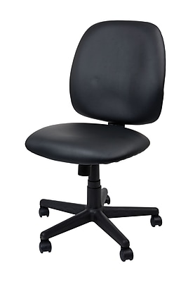 Staples Haydn Luxura Mid-Back Task Chair Without Arms, Black