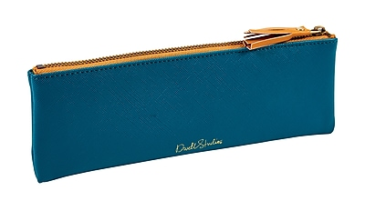 DwellStudio Small Accessories Faux Pouch, Dark Teal (51133)