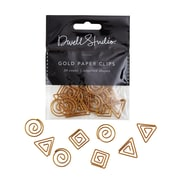 DwellStudio Gold Paper Clips, Assorted Shapes, 30 Count (45107)