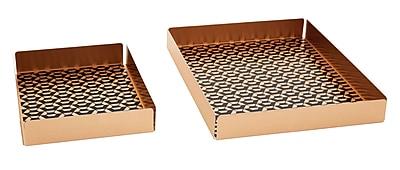DwellStudio Aluminum Tray, Callum, 2 pack (45134)