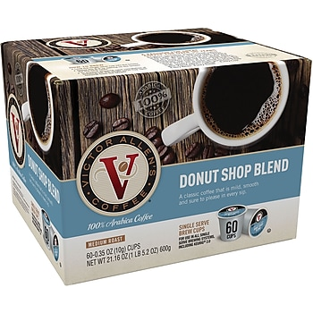 60-Count Victor Allen's Coffee Donut Shop Single Serve Cups