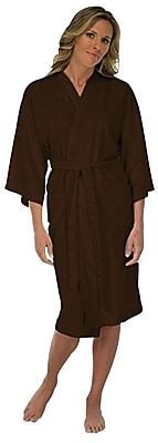 Canyon Rose Microplush Spa Robe, Brown, XL