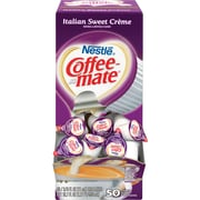 Nestlé® Coffee-mate® Coffee Creamer, Italian Sweet Créme, .375oz liquid creamer singles, 50 count