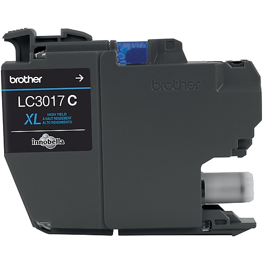 Brother LC3017C Cyan Ink Cartridge, High Yield