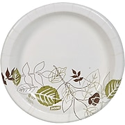 "Dixie Pathways Medium-Weight Paper Plates, 8.5"", 125/Pack (DXEUX9WSPack)"