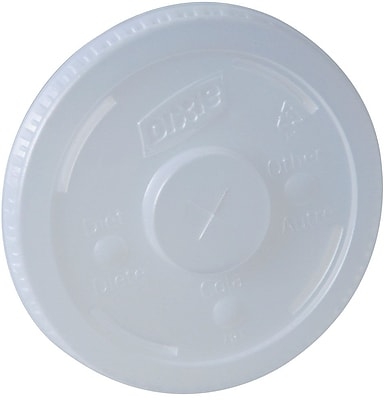 Dixie® Straw-Slotted Paper Cold Cup Lid by GP PRO, 12-21 oz., Translucent, 1200/Carton (914LSRD)
