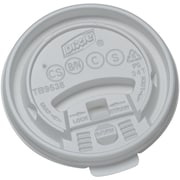 Dixie® Tear Back Plastic Hot Cup Lid by GP PRO, Small, White, 1000/Carton (TB9538X)