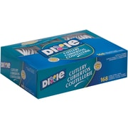 GP PRO Dixie® Polypropylene Heavy Weight Cutlery Combo Box (Fork/Knife/Spoon),White, 168/BX