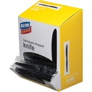 GP PRO Dixie® Wrapped Polystyrene Medium Weight Knives, Black, 90/PK
