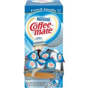 Nestle® Coffee-mate® Coffee Creamer, French Vanilla, .375 oz Liquid Creamer Singles, 50/Box