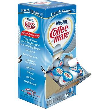 Nestlé® Coffee-mate® Coffee Creamer, French Vanilla, .375oz liquid creamer singles, 50 count