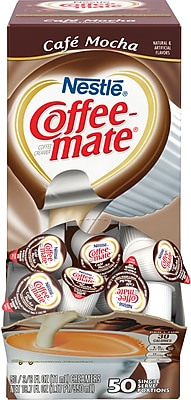 Nestle® Coffee-mate® Coffee Creamer, Cafe Mocha, .375 oz Liquid Creamer Singles, 50/Box