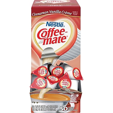 Nestlé® Coffee-mate® Coffee Creamer, Cinnamon Vanilla Créme, .375oz liquid creamer singles, 50 count