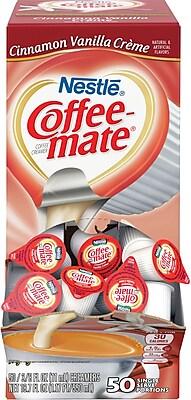 Nestle® Coffee-mate® Coffee Creamer, Cinnamon Vanilla Creme, .375 oz Liquid Creamer Singles, 50/Box