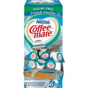 Nestle® Coffee-mate® Coffee Creamer, Sugar-Free French Vanilla, .375 oz Liquid Creamer Singles, 50/Box