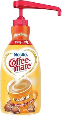 Nestle® Coffee-mate® Coffee Creamer, Hazelnut, 1.5L Liquid Pump Bottle, 1 Each