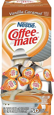 Nestle® Coffee-mate® Coffee Creamer, Vanilla Caramel, .375 oz Liquid Creamer Singles, 50/Box