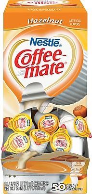 Nestlé® Coffee-mate® Coffee Creamer, Hazelnut, .375oz liquid creamer singles, 200 count