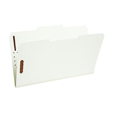 Staples® Gray/Green Pressboard Fastener Folders, Legal, 3 Tab, 1