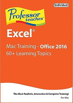 Individual Software Professor Teaches Excel 2016 - for Mac (1 User) [Download]