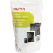Staples Screen Cleaning Wipes, 100 Count