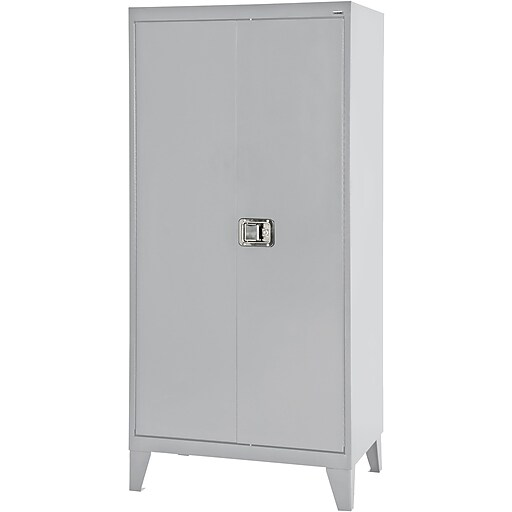 "Sandusky 79""H Extra Heavy Duty Steel Storage Cabinet with 4 Shelves, Dove Gray (XA4D462472-05L)"