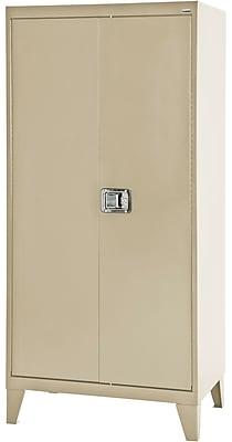 sandusky 36 x 18 x 79 extra heavy duty storage cabinet putty rh staples com jumbo heavy duty metal storage cabinet - 48 x 24 x 78 heavy duty metal storage cabinet with doors