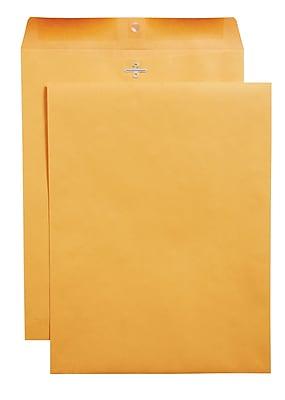 Staples® Clasp Closure Kraft Envelopes, 10
