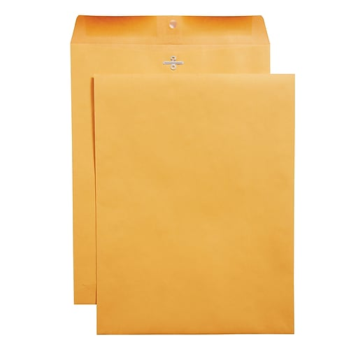 staples clasp closure kraft envelopes 10 x 13 brown 100 box
