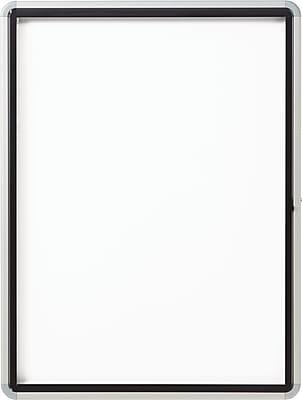 Quartet® Enclosed Magnetic Whiteboard for Outdoor Use, 1 Swing Door, Aluminum Frame , 30