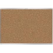 Prestige® 2 Magnetic Cork Bulletin Board, 3' x 2', Silver Finish Aluminum Frame