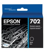 Epson 702 DURABrite Ultra Ink Cartridge, Standard-capacity, Black Ink Cartridge (T702120)