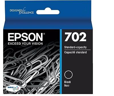 Epson 702 DURABrite Ultra Ink Cartridge, Standard-capacity, Black Ink Cartridge (T702120)