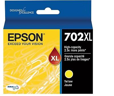 Epson 702 DURABrite Ultra Ink Cartridge, High Yield, Yellow Ink Cartridge (T702XL420)