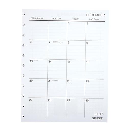 Academic Calendar Planner Refill : Staples arc system  academic year weekly planner