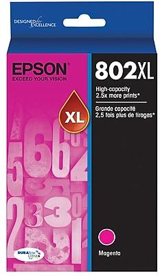Epson 802 DURABrite Ultra Ink Cartridge, High Yield, Magenta Ink Cartridge (T802XL320)