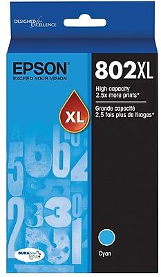 Epson 802 DURABrite Ultra Ink Cartridge, High Yield, Cyan Ink Cartridge (T802XL220)
