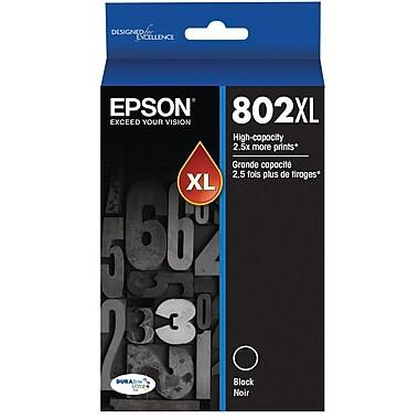 Epson 802 DURABrite Ultra Ink Cartridge, High Yield, Black Ink Cartridge (T802XL120)