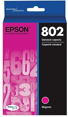 Epson 802 DURABrite Ultra Ink Cartridge, Standard-capacity, Magenta Ink Cartridge (T802320)